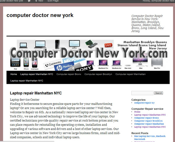 Computer Repair NYC Computer Doctor  New York NYC Service