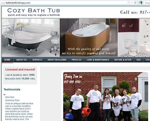 bathtubrefinishingny.com New York bathtub refinishing