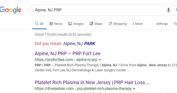 Alpine PRP Therapy New Jersey
